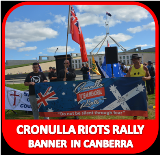 Cronulla Rally banner in Canberra
