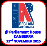 Photographs from the Reclaim Australian Rally In Canberra on the 22nd November 2015
